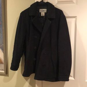 Vintage L.L. Bean fleece pea coat, size S